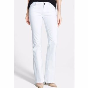 Kut From the Kloth White 'Chrissy' Flare Leg Jeans